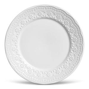 Prato Raso 01 Peça Madeleine Branco 26 cm Porto Brasil