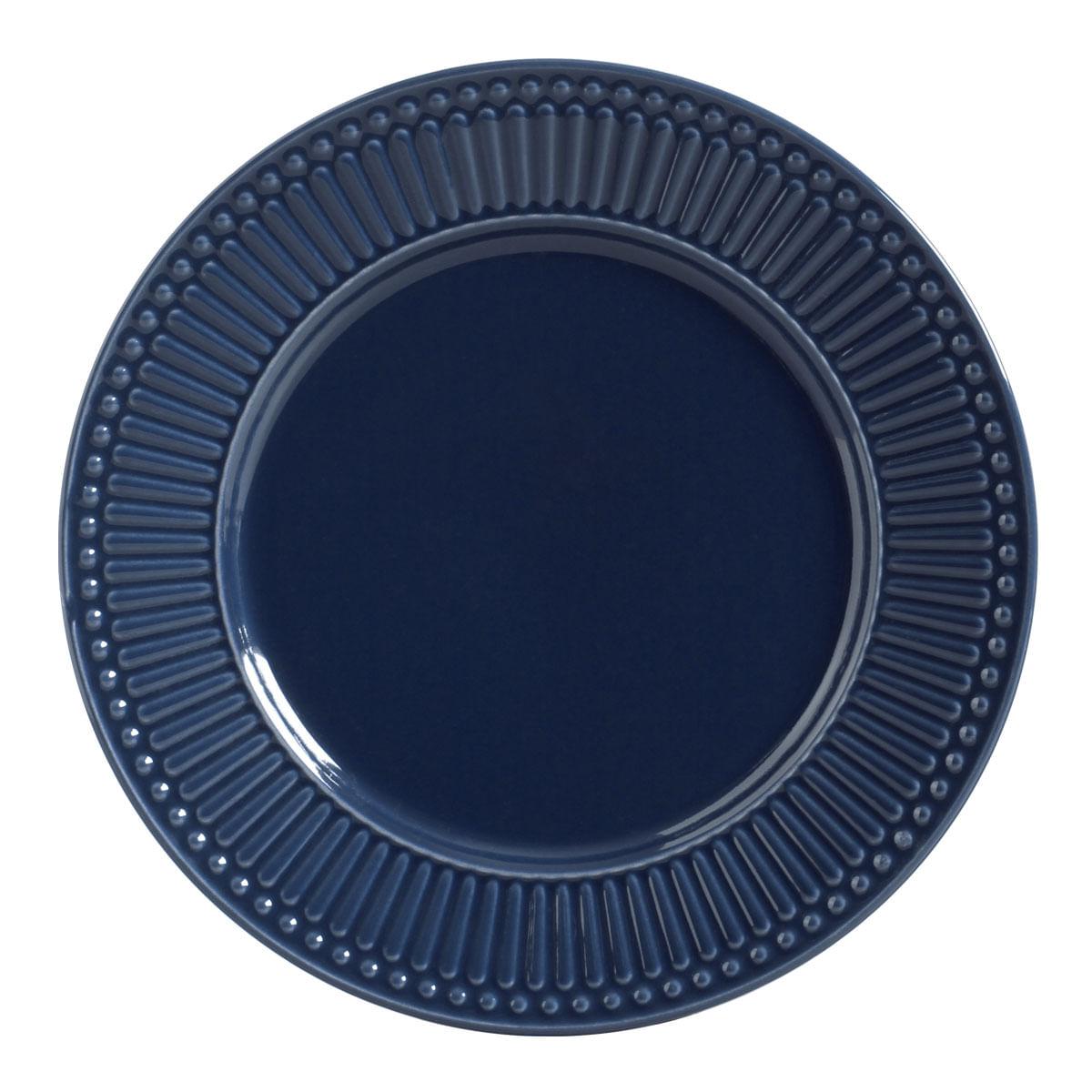 Prato Raso 01 Peça Roma Deep Blue 26 cm Porto Brasil