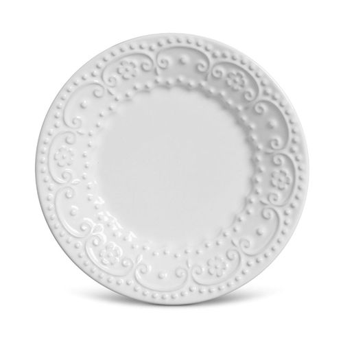 Prato Sobremesa 01 Peça Branco Esparta Porto Brasil