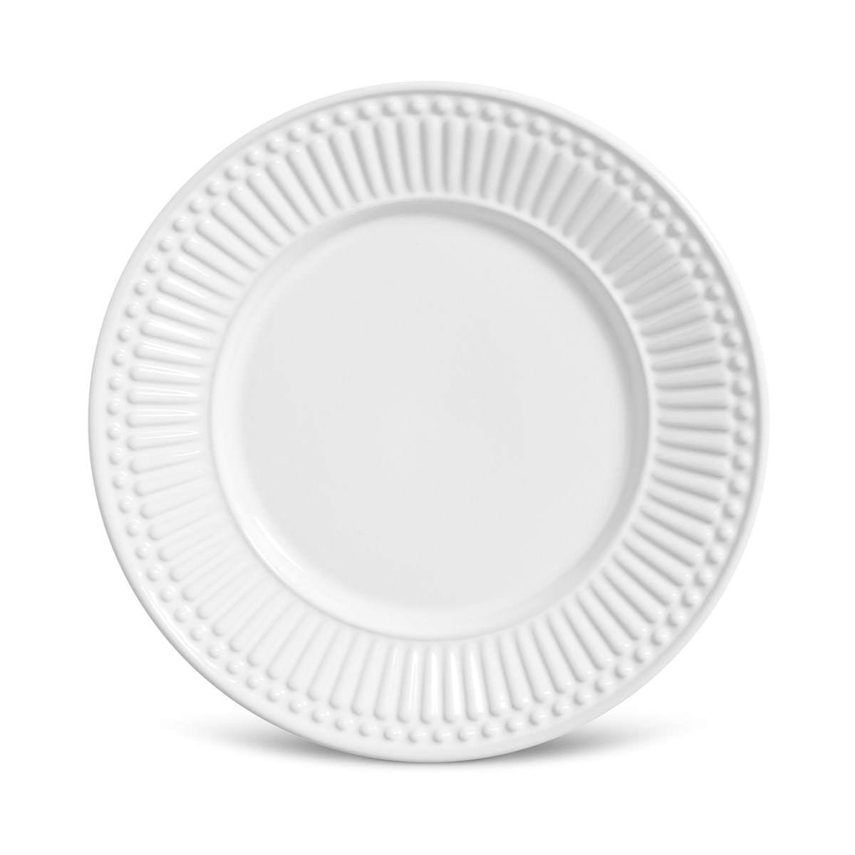 Prato Sobremesa 01 Peça Branco Roma 20,5 cm Porto Brasil