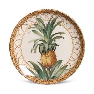 Prato Sobremesa 01 Peça Coup Pineapple Natural Porto Brasil
