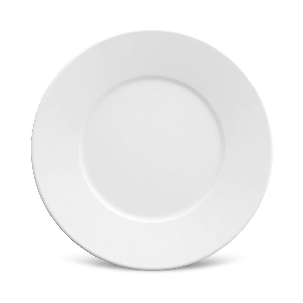 Prato Sobremesa 01 Peça Mônaco Branco Liso 20,5 cm Porto Brasil