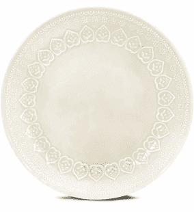 Prato Sobremesa 01 Peça Relieve Branco 20,5 cm Corona