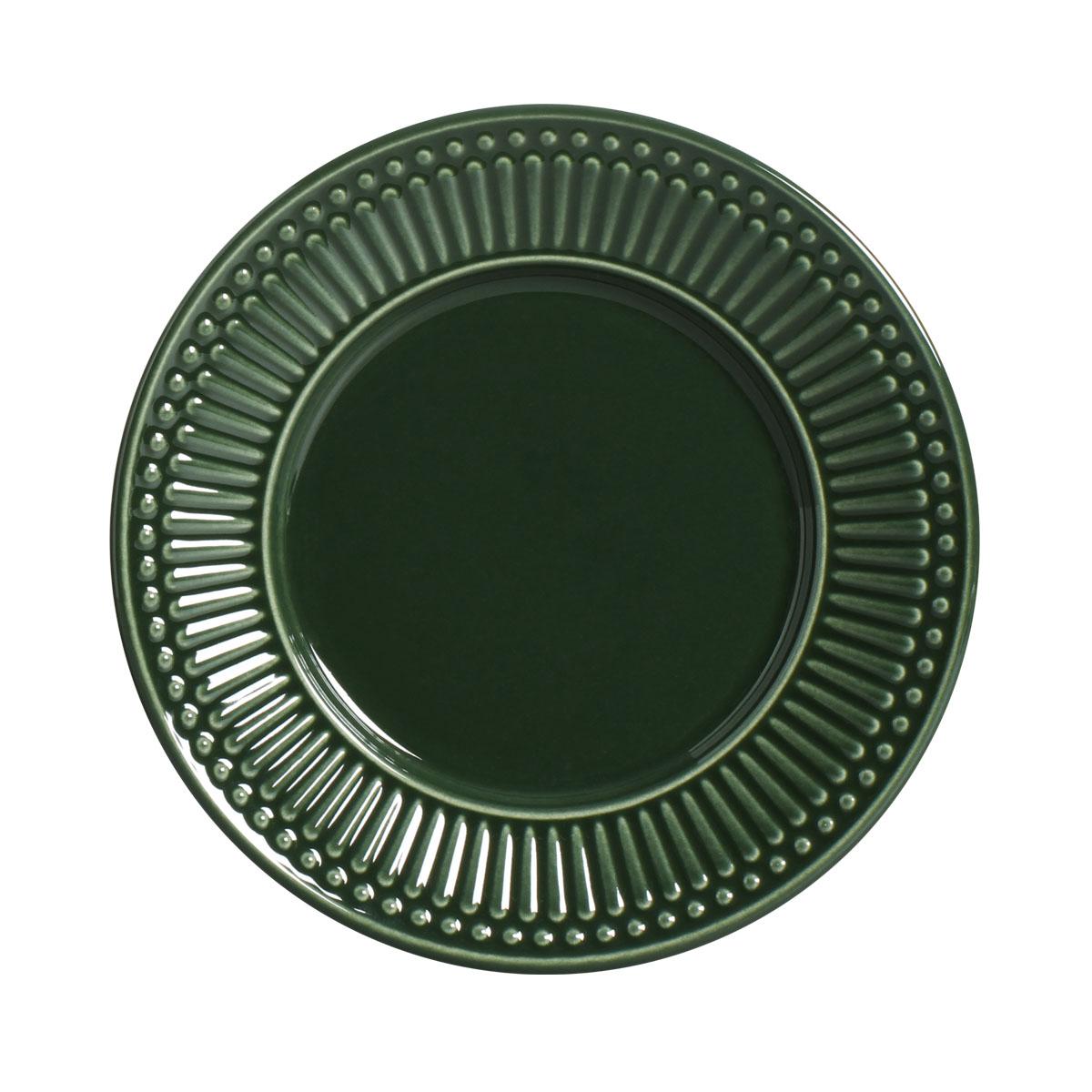 Prato Sobremesa 01 Peça Roma Verde Botânico 20,5 cm Porto Brasil