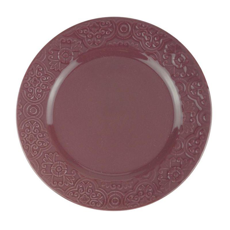 Prato Sobremesa 01 Peça Tiles Lilac Porcelana 19 cm Wolff