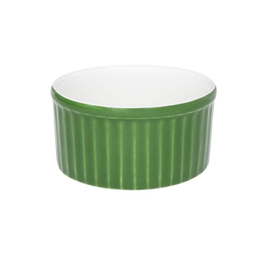 Ramequin 01 Peça Verde com Branco 180ml Oxford
