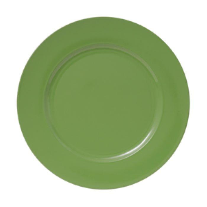 Sousplat de Plástico 01 Peça Opala Verde Lyor
