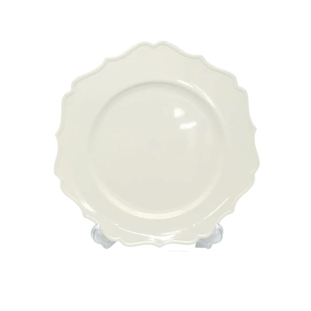 Sousplat Plástico 01 Peça Star Bege