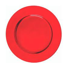 Sousplat Plástico 01 Peça Vermelho Liso 33cm Mundiart