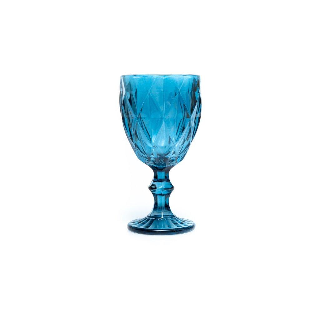 Taça para Água 01 Peça Azul Diamond Vitral Verrê