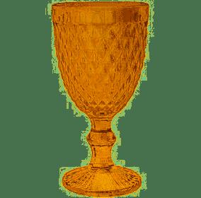 Taça para Água 01 Peça Bico de Abacaxi Âmbar Metalizada Casa Onze