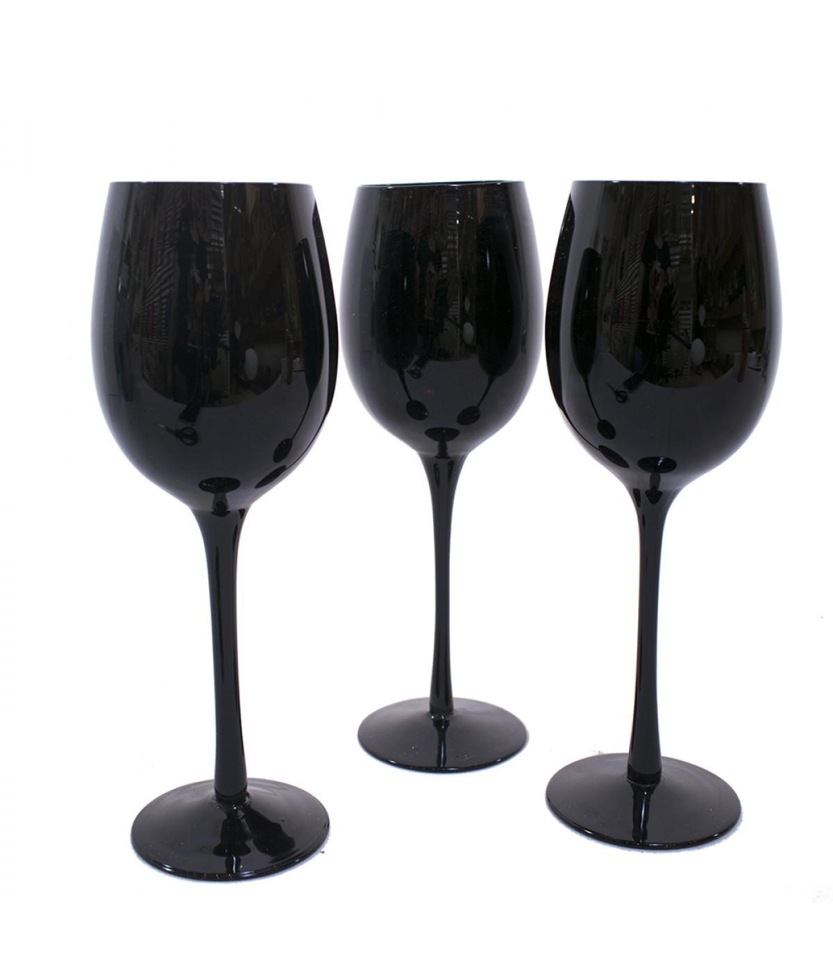 Taça  para Vinho Preta 350 ml