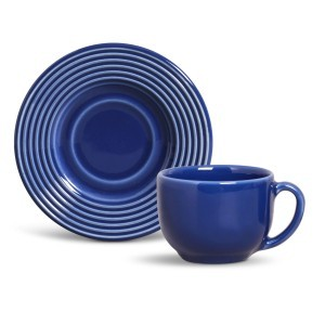 Xícara de Chá 01 Peça Argos Azul Navy Porto Brasil