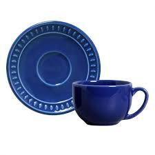 Xícara de Chá 01 Peça Sevilha Azul Navy Porto Brasil