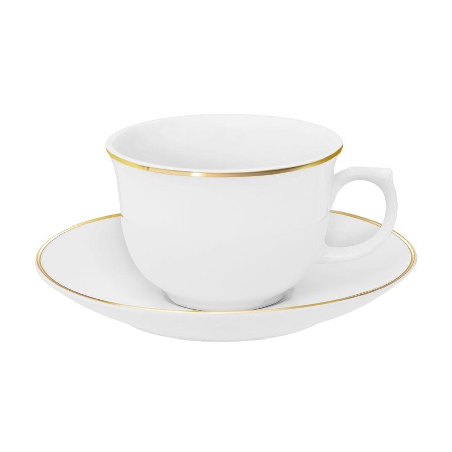 Xícara de Chá com Pires Flamingo Sofia 240ml Oxford Porcelanas