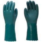 Luva Jundtex 1002 PVC Verde Com Forro 36cm CA 30514