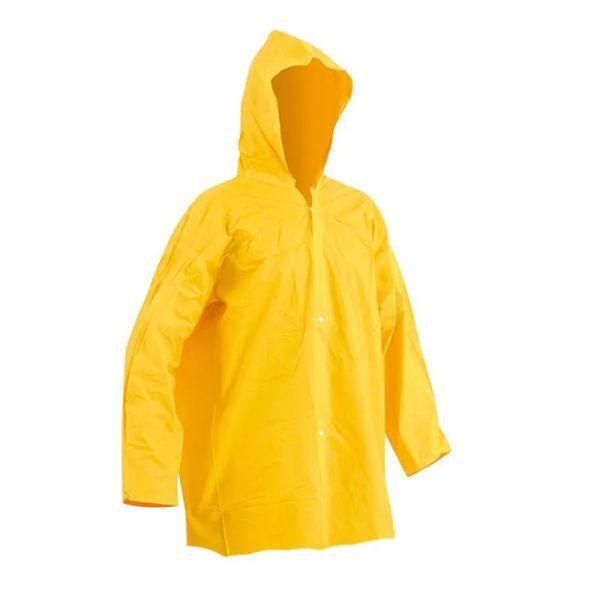 Blusão de Chuva Capseg PVC Forrado Amarela CA 11125