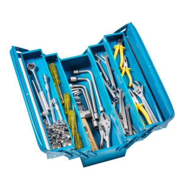 Caixa de Ferramentas Tramontina 43800/945 Sanfonada 5 gavetas com 60 peças