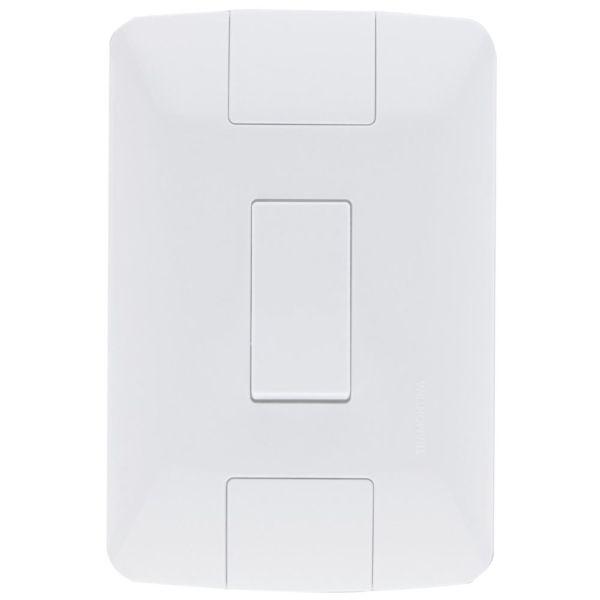 Conjunto Elétrico Tramontina 57241/001 Aria 1 Interruptor Simples 6A 250V Branco
