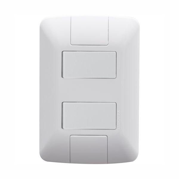 Conjunto Elétrico Tramontina 57241/040 Aria 2 Interruptores Simples 6A 250V Branco
