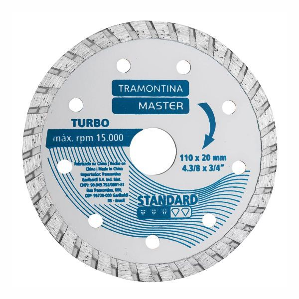 "Disco Tramontina 42594/504 Standard Diamantado Contínuo 4.3/8"" Liso"