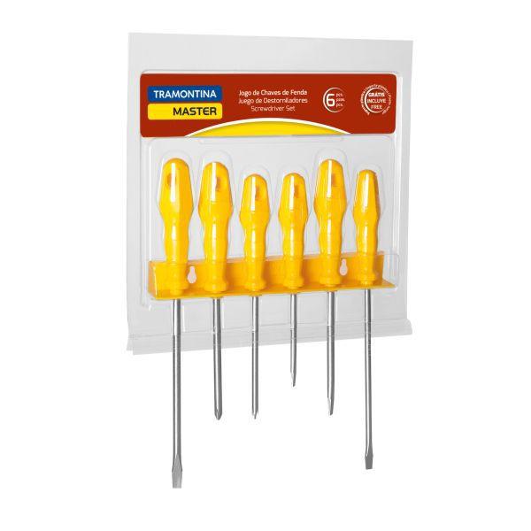 Jogo de Chave de Fenda Tramontina 41516/536 Master Yellow com 6 Peças