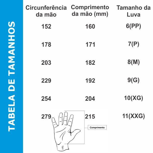 Luva Volk Cut Impact R2 Anti Corte Dorso Anti Impacto CA 42941