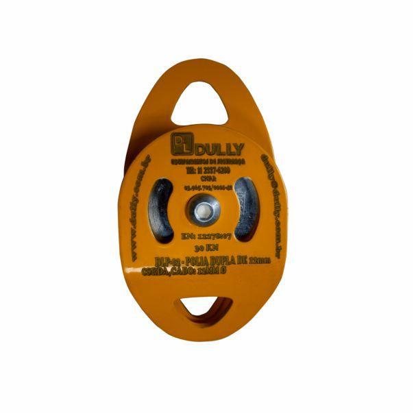 Polia Dupla Dully DLP-002 Aço Resistência 30kn para Uso em Corda 12mm