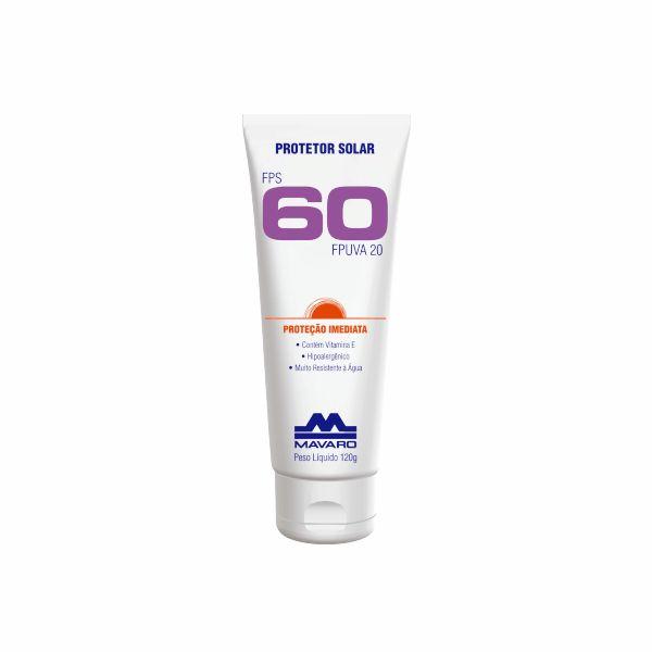 Protetor Solar FPS 60 Mavaro Profissional