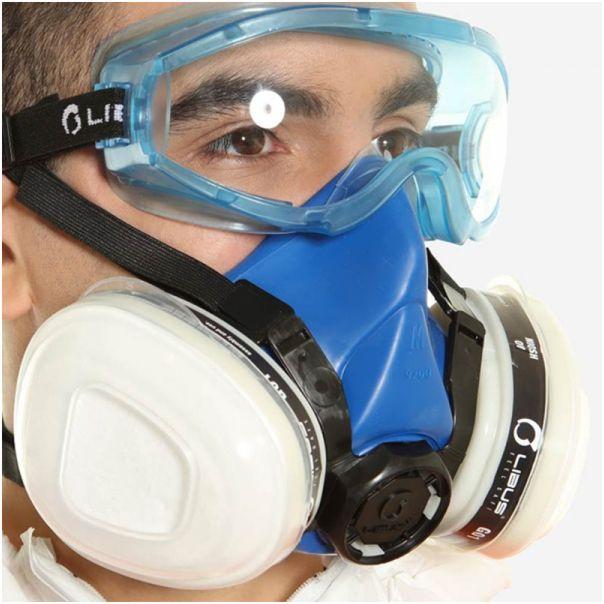 Respirador Libus 9000 Semi Facial Suporte para 2 Cartuchos CA 37706