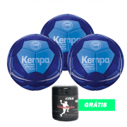 Kit 3 Bolas Kempa Spectrum Synergy Plus + Cola 250g grátis