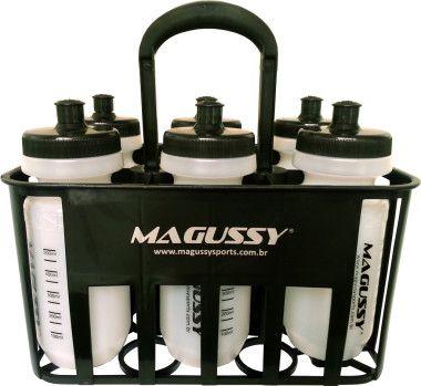 Kit Porta Squeeze Para 6 Uni. + 6 Garrafas Squeeze Magussy