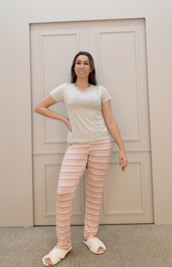 Pijama calça e camisa curta Viena