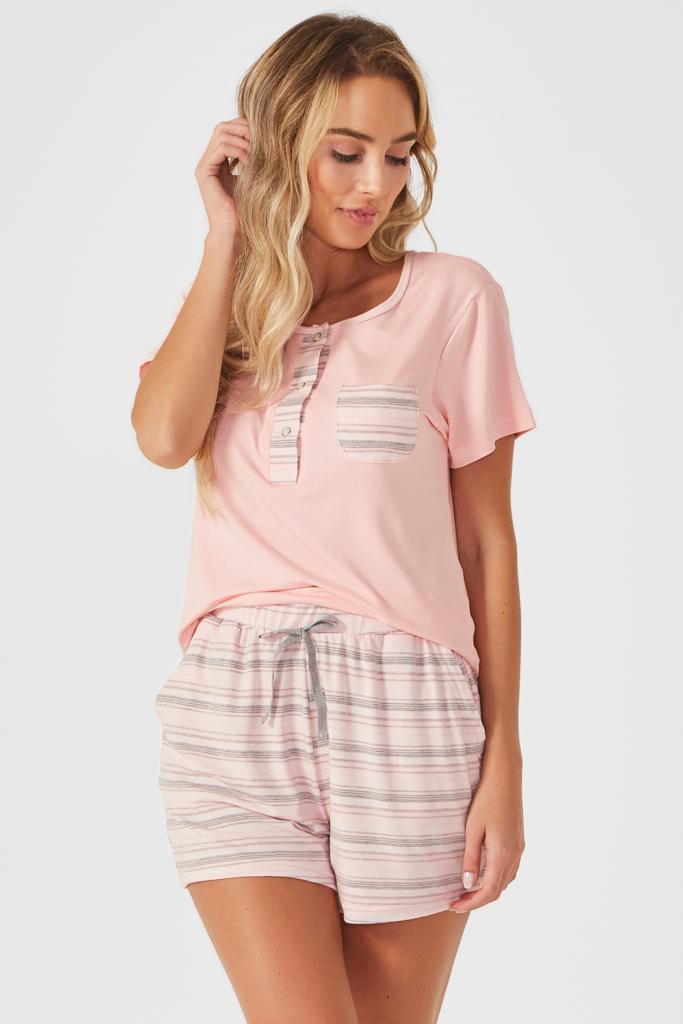 Pijama Camisa Peitilho Barbarella