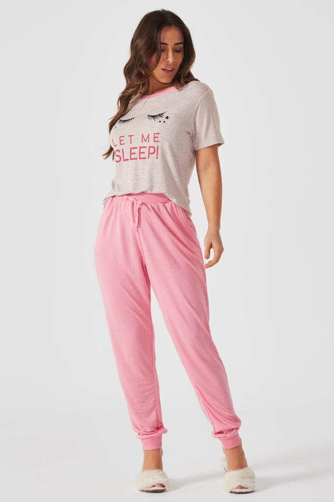 Pijama Longo manga curta Donna