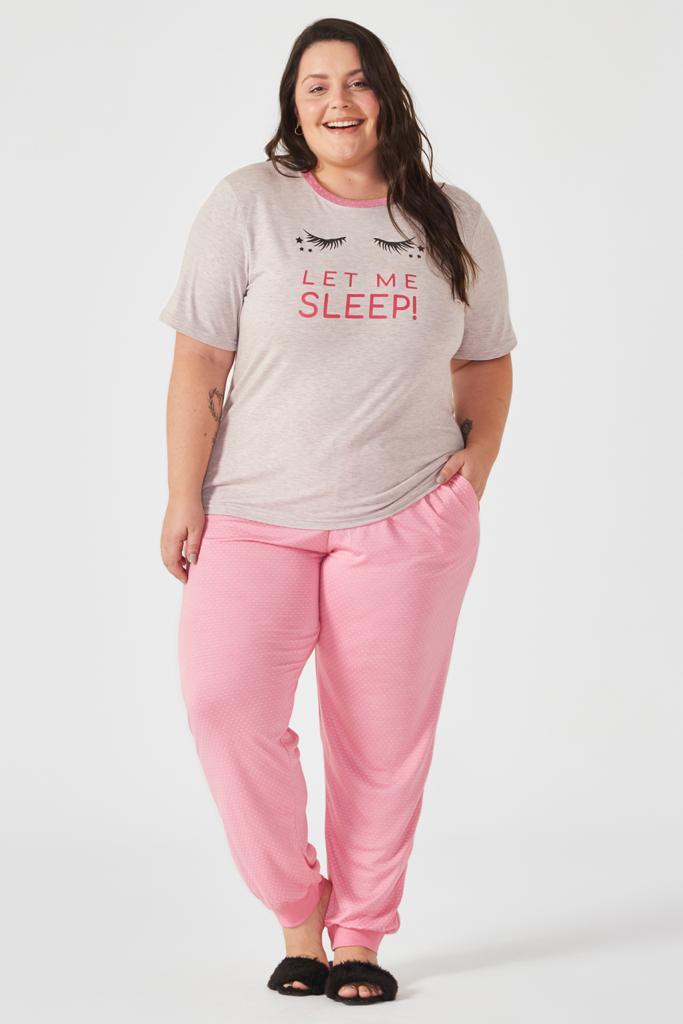 Pijama manga curta Donna