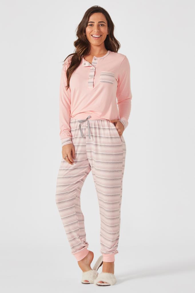 Pijama manga longa Peitilho Barbarella