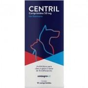 Antibiótico Centagro Vet Centril para Cães e Gatos - 50 mg