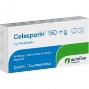 Antibiótico Ourofino Celesporin de 12 Comprimidos - 150 mg