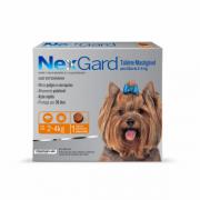 Antipulgas e Carrapatos NexGard 11,3mg para Cães de 2 a 4Kg C/1 Comprimido