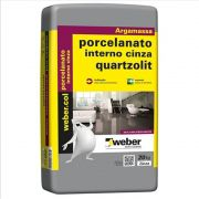 Argamassa Para Porcelanatos Uso Interno Cinza 20kg Quartzolit