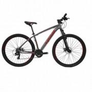 Bicicleta Cairu Aluminío Aro 29 Lotus Cinza e Vermelho Ref 317330