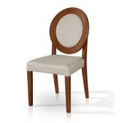 Cadeira Pollus Enna Tapeçada Amêndoa Ref T.3.69.011