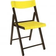 Cadeira Potenza Tramontina Tabaco Com Amarelo Ref 13793/084