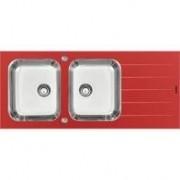 Cuba Vidro Sobrepor Tramontina Temperado Vermelho 116X50 2C