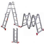 Escada Worker Alumínio 8 em 1 Articulada 4x4
