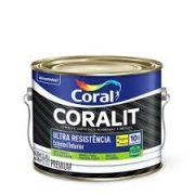 Esmalte Coral Coralit Ultra Resistência Balance Preto Brilhante 2,4 Litros