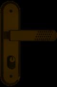 Fechadura Stam 1801/21 Espelhada Antique Externa