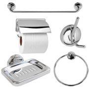 Kit De Acessorios Jackwal Banho Standard 5 Peças Cromado Ref 002727
