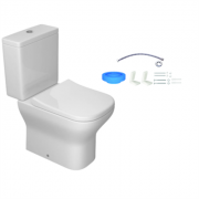 Kit Bacia com Caixa Acoplada e Assento + Acessórios para Instalação Axis Branco KP.470.17 Deca